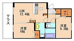 D-roomSK[1階]の間取り