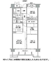 コーシャハイツ高見38[6階]の間取り