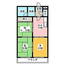 エクセル神戸[2階]の間取り