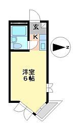 プレスイン六番南[1階]の間取り