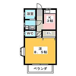 ワールドハイツ5番館[2階]の間取り
