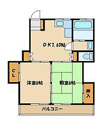 森ヶ丘第一マンション[4階]の間取り