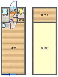 JSハイツ[2階]の間取り
