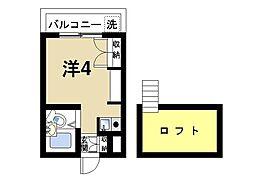 シングル・モア[1階]の間取り