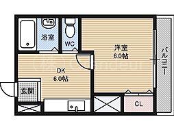 ラフォーレ桜宮2[4階]の間取り