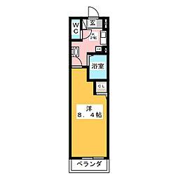 ヒルズ花の木[8階]の間取り