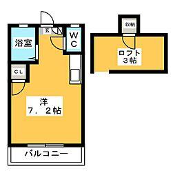 リバービュー原田[1階]の間取り