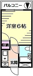 エクセルシア神大寺[2階]の間取り