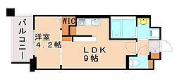 アーヴェンス吉塚 5階1LDKの間取り