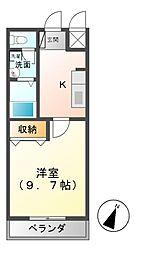 メゾン・ドゥ・ナミC[2階]の間取り