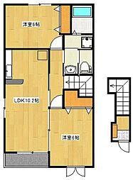メリ−ハウス・ひまわりA[2階]の間取り