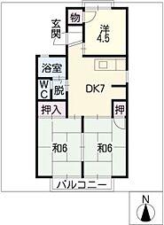 ジュネスマルフクC.D棟[2階]の間取り