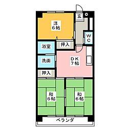 コンフォール高蔵寺[2階]の間取り