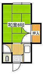 矢島荘[A号室]の間取り