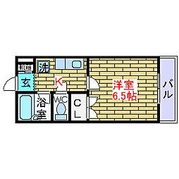 大阪府高槻市奈佐原元町の賃貸マンションの間取り