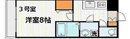 神奈川県横浜市神奈川区栗田谷の賃貸マンションの間取り