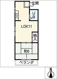 小関ハイツ[2階]の間取り