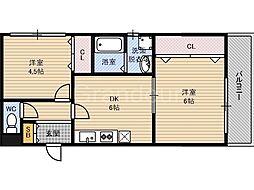 ナカノハイツパート5[4階]の間取り