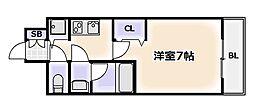 大阪府大阪市浪速区幸町3丁目の賃貸マンションの間取り