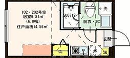 高砂7丁目コーポ[2階]の間取り