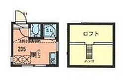 神奈川県横浜市鶴見区市場大和町の賃貸アパートの間取り