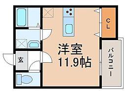 クラウンハイツ和歌浦東[1-B号室]の間取り