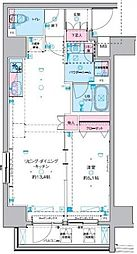 GENOVIA 東神田 green veil 10階1LDKの間取り