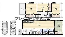 土師小学校区・平成13年建築・土地38坪・堺市中区土師町3丁 4LDKの間取り