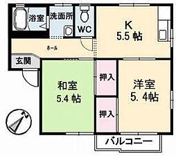 タウニー平良 A棟[1階]の間取り