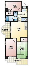サンロイヤル新居壱番館[2階]の間取り