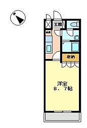 ビリーブ[1階]の間取り