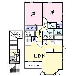 メゾン・ド・ソレイユA[2階]の間取り