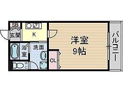 パーシモン茨木[1階]の間取り