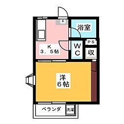 シングルライフYK[2階]の間取り