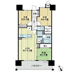 サーパス柳丸イーストガーデン[6階]の間取り