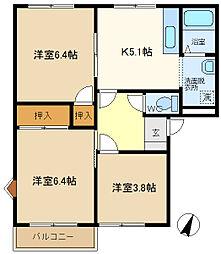 セントラルヴィレッジA 105[1階]の間取り