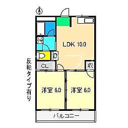 ガーデンハイツ永野II[3階]の間取り