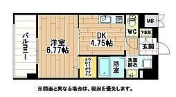 福岡県北九州市八幡西区東神原町の賃貸マンションの間取り