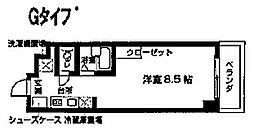 KICS湘南[211号室]の間取り
