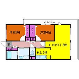 淀川ハイライフマンション[7階]の間取り