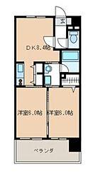 福岡県福岡市博多区吉塚1丁目の賃貸マンションの間取り