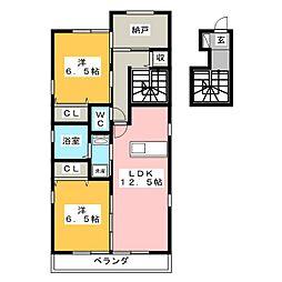 オリーブハイツ[2階]の間取り