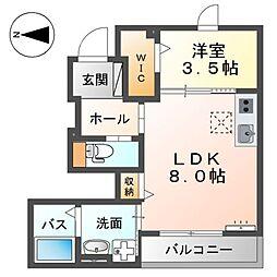 SunnyII 1階1LDKの間取り