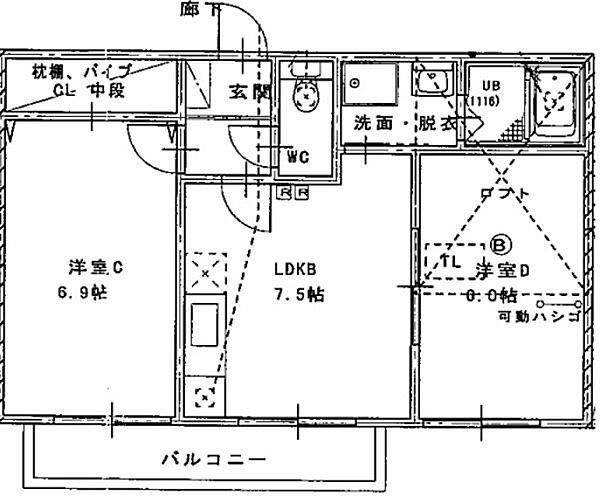 ネイフリーデンⅡ[2階]の間取り