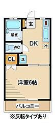 東京都府中市小柳町2丁目の賃貸アパートの間取り