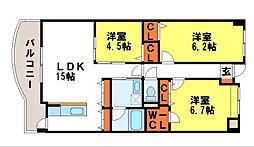 クレール カーサ[4階]の間取り