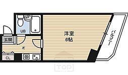 ハイツセイコー都島[2階]の間取り
