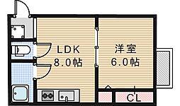 阪田ハイツ[305号室]の間取り
