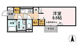 (仮)D-room海老名市国分南 2階1Kの間取り
