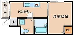 兵庫県神戸市長田区苅藻通2丁目の賃貸アパートの間取り